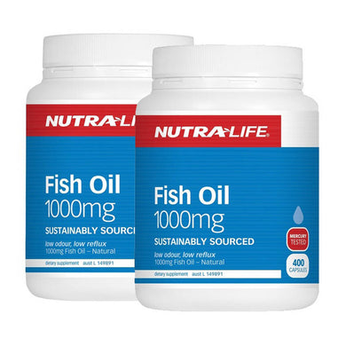 Nutralife Fish Oil 1000mg 400 capsules 2 for $40.00