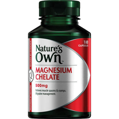 Nature's Own Magnesium Chelate 500mg 180 Capsules - Corner Pharmacy