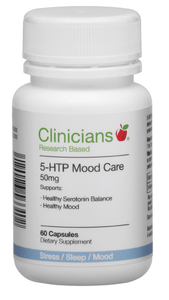 Clinicians 5-HTP Mood Care 50mg 60 caps - Corner Pharmacy