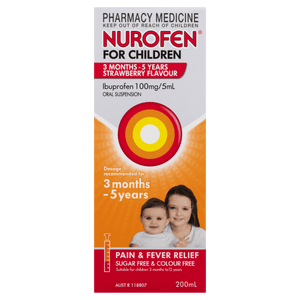Nurofen Strawberry Flavour 200 ml - Corner Pharmacy