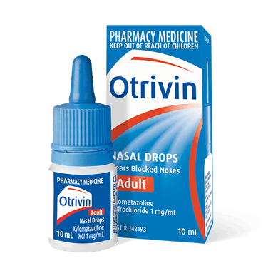 OTRIVIN Adult Nasal Drops 10ml - Corner Pharmacy
