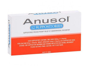 ANUSOL Suppositories 12 - Corner Pharmacy