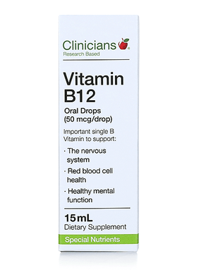 Clinicians Vitamin B12 Oral Drops (50mcg/drop) - Corner Pharmacy