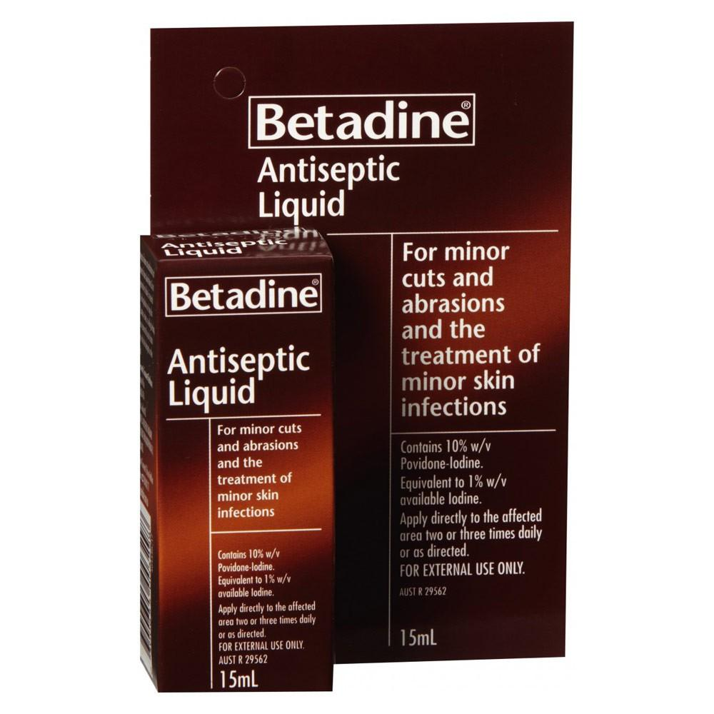 Betadine Antiseptic Liquid 15ml - Corner Pharmacy