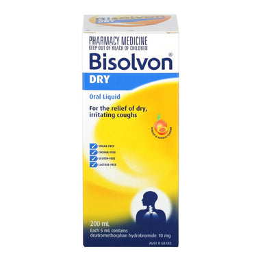 Bisolvon Dry 200 ml (Pharmacist Only) - Corner Pharmacy