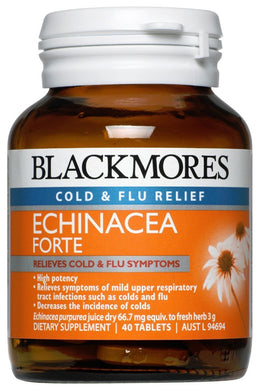 Cold & Flu Relief Echinacea Forte 40 Tablets - Corner Pharmacy