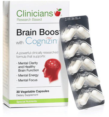 Clinicians Brain Boost with Cognizin  30 caps - Corner Pharmacy