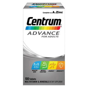 Centrum Advance For Adults 100 Tablets - Corner Pharmacy