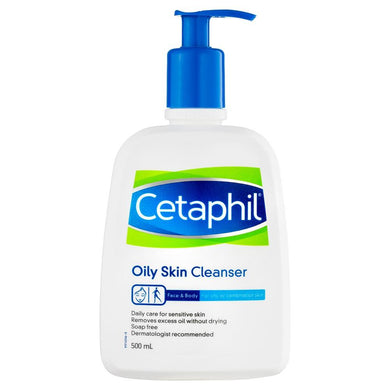 Cetaphil Oily Skin Cleanser Face & Body 500 ml - Corner Pharmacy