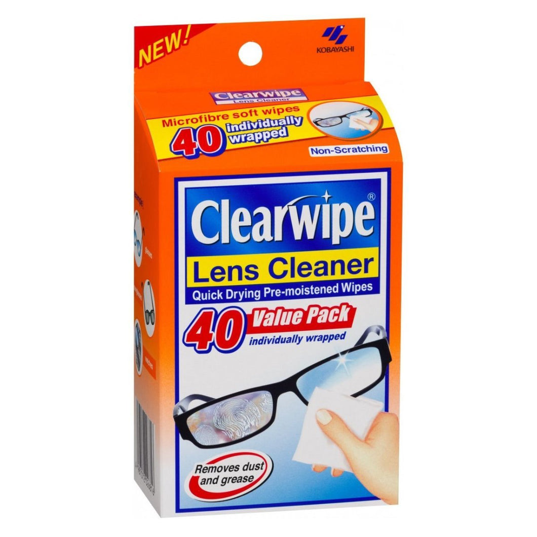 Clearwipe Lens Cleaner 40 Wipes - Corner Pharmacy