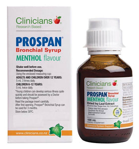 Clinicians Prospan Bronchial Syrup Menthol Flavour Immune System Support 100 ml - Corner Pharmacy