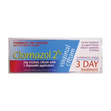 Clomazol 2% 3 Day Vaginal Cream