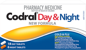 Day & Night New Formula Cold & Flu 18 Day Tablets 6 Night Tablets - Corner Pharmacy