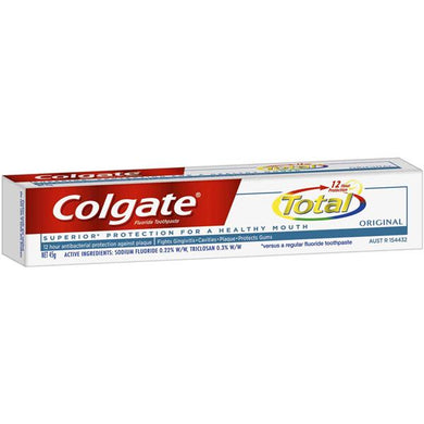 Colgate Fluoride Toothpaste Total 12 Hour Protection Original 45 g - Corner Pharmacy