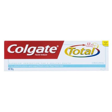 Colgate Fluoride Toothpaste Total 12 Hour Protection Original 80 g - Corner Pharmacy