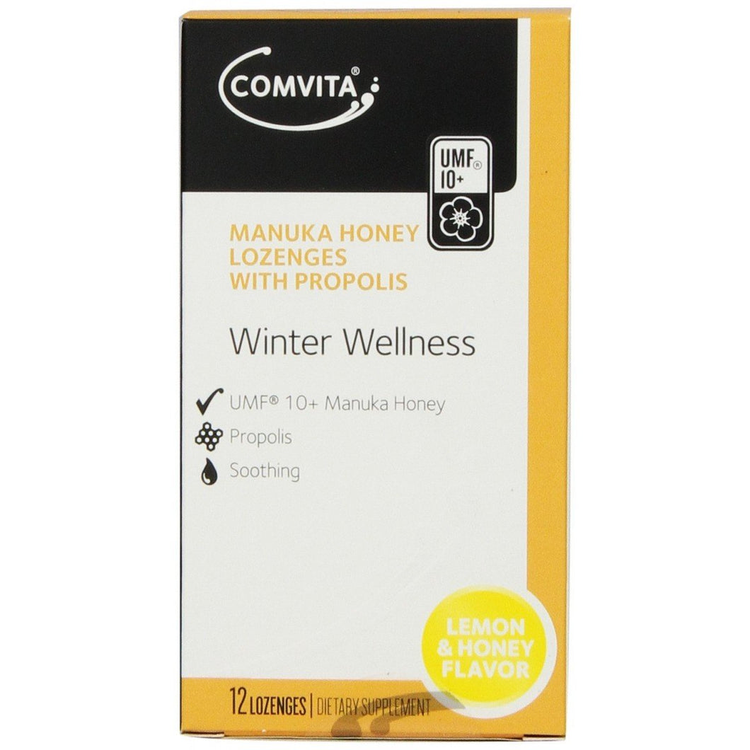 Manuka Honey Lozenges With Propolis Lemon & Honey 12 Lozenges - Corner Pharmacy