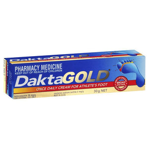 DaktaGold Once Daily Cream For Athlete's Foot 30 g - Corner Pharmacy