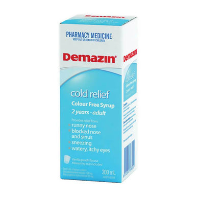 Demazin Cold Relief Colour Free Syrup 200m