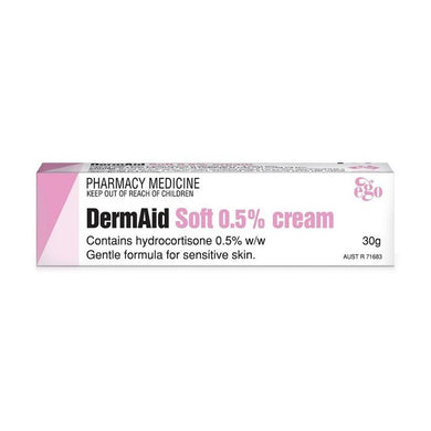 DermAid Soft 0.5% Cream Hydrocortisone 30 g - Corner Pharmacy