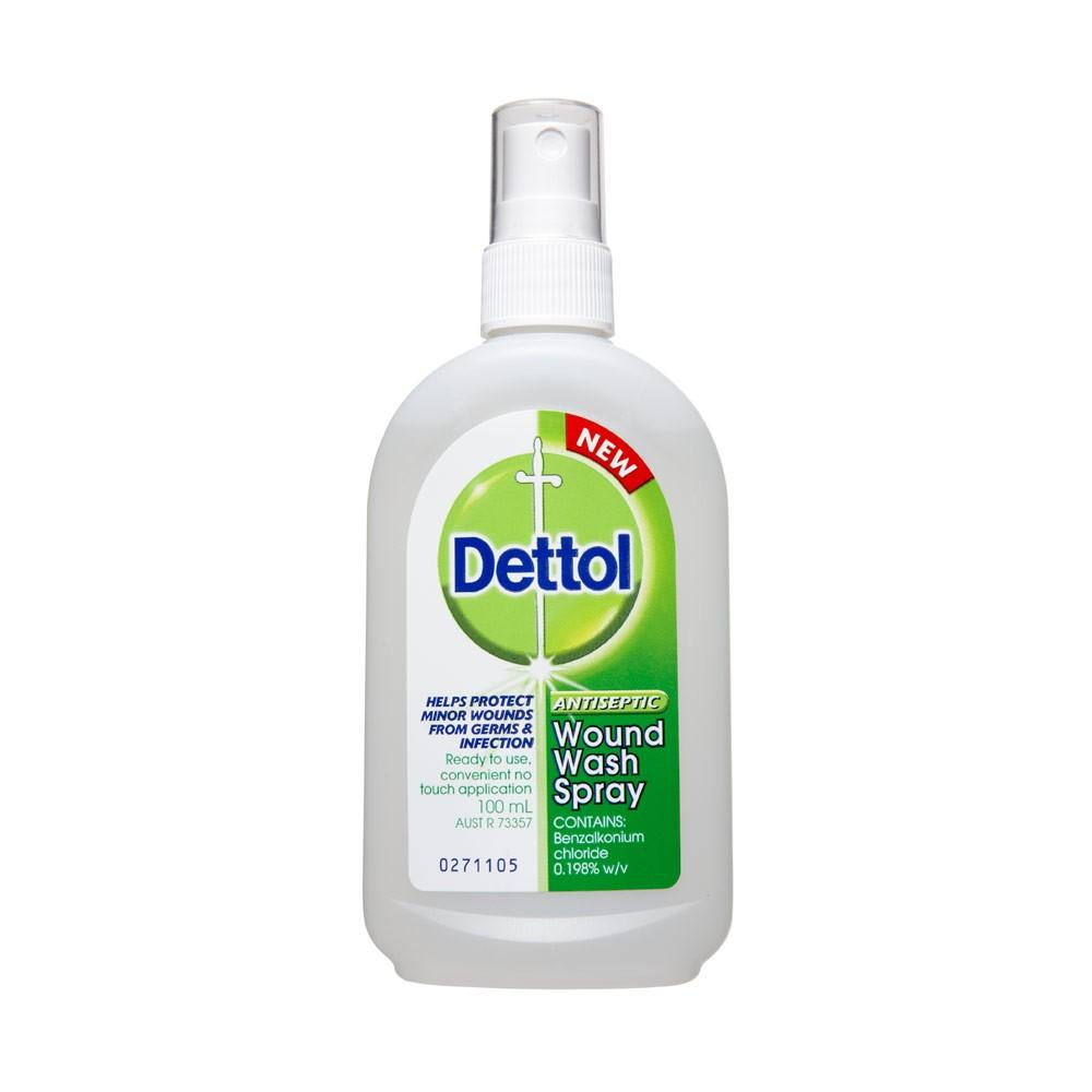 Dettol Antiseptic Wound Wash Spray 100 ml - Corner Pharmacy