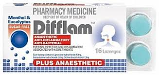 DIFFLAM Lozenges Eucalyptus and Menthol 16