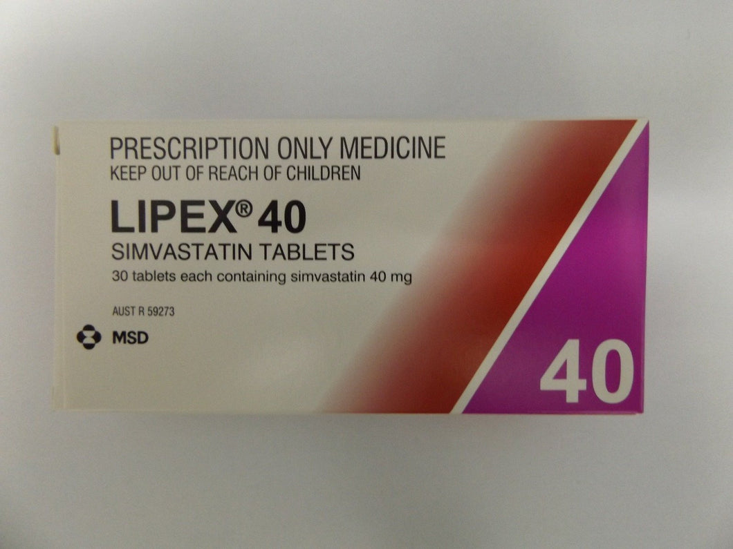 Lipex 40 mg 30 Tablets (Prescription Required) - Corner Pharmacy