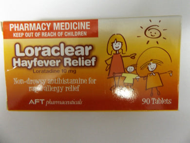 Loraclear Hayfever Relief Loratadine 10 mg 90 Tablets - Corner Pharmacy