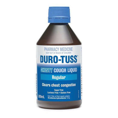 Duro Tuss Chesty Cough Liquid Regular 200 ml - Corner Pharmacy