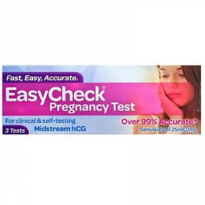 EasyCheck Pregnancy Test For Clinical & Self- Testing 3 Tests - Corner Pharmacy