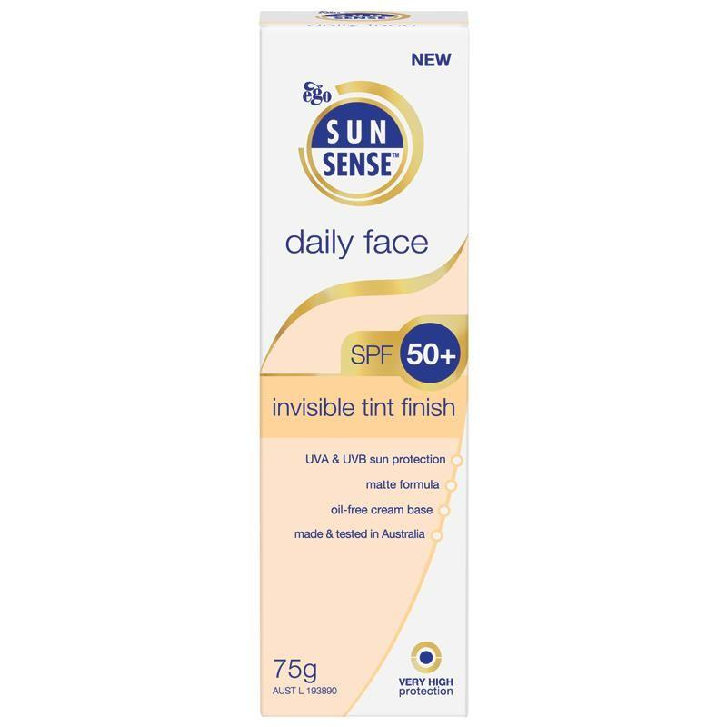 Ego Sun Sense Daily Face SPF 50+ Invisible Tint Finish 75 g - Corner Pharmacy