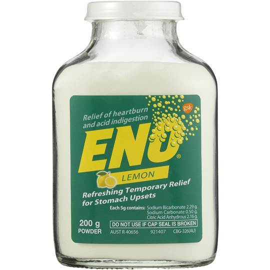 Eno Lemon Refreshing Temporary Relief For Stomach Upsets 200 g Powder - Corner Pharmacy