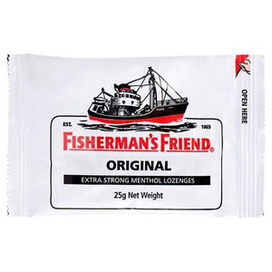 Fisherman's Friend Original Extra Strong Menthol Lozenges 25 g Net Weight