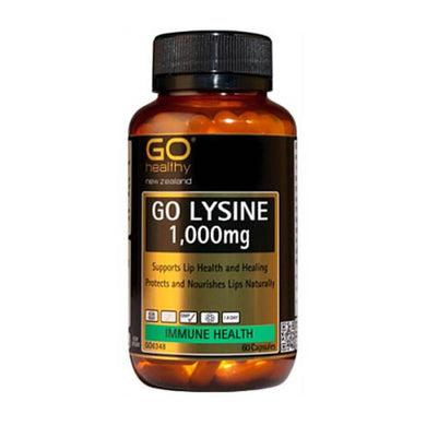 GO Healthy Go Lysine 1000mg 60 Capsules - Corner Pharmacy