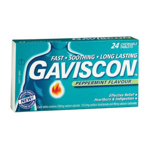 Gaviscon Peppermint Flavour Tablets 24s