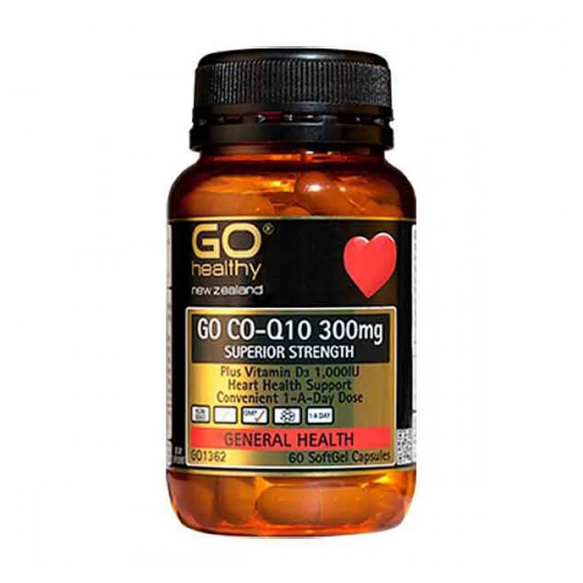 Co-Q10 300mg + Vitamin D3 1000IU 60 SoftGels - Corner Pharmacy
