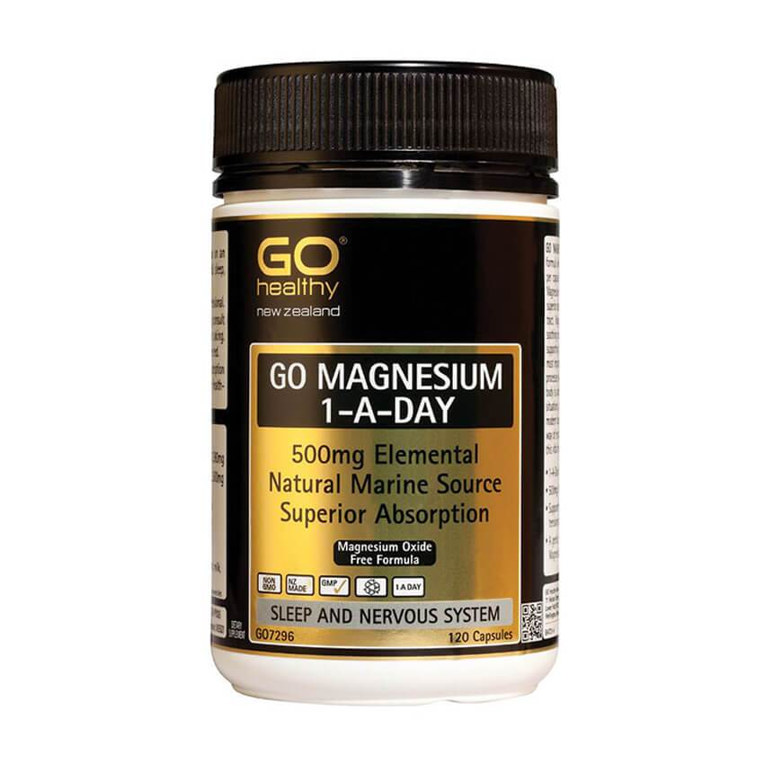 GO Healthy Go Magnesium 500mg 1-A-DAY 120 Capsules - Corner Pharmacy