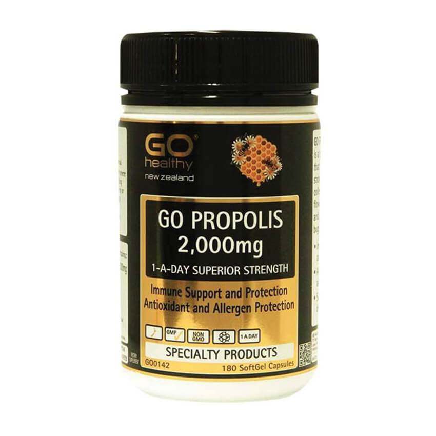 GO Healthy Go Propolis 2,000mg 1-A-Day- Superior Strength 180 Capsules - Corner Pharmacy