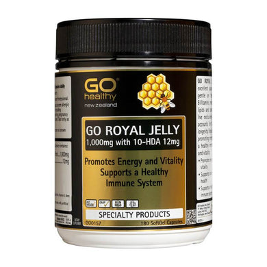 GO Healthy Go Royal Jelly 1,000mg 180 Capsules - Corner Pharmacy