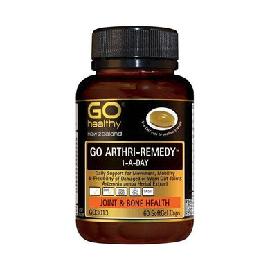 Go Healthy Arthri-Remedy 1-A-Day Joint & Bone Health 60 Soft Gel Caps - Corner Pharmacy
