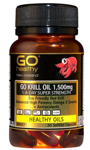 GO Healthy GO Krill Oil 1,500mg 1-A-Day Super Strength 30 Soft Gel Capsules - Corner Pharmacy