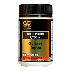 GO Healthy GO Lecithin 1200mg Cholesterol Support 120 Soft Gel Capsules - Corner Pharmacy