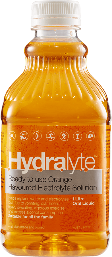 Hydralyte Ready To Use Orange Flavoured Electrolyte Solution 1 Litre Oral Liquid - Corner Pharmacy