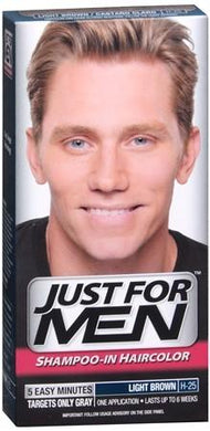 Just For Men Shampoo- In Haircolour Light Brown H-25 - Corner Pharmacy