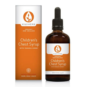 Kiwi Herb Organic New Zealand Children's Chest Syrup Oral Liquid 100 ml - Corner Pharmacy