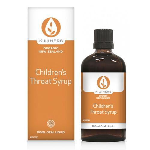Kiwi Herb Organic New Zealand Children's Throat Syrup Oral Liquid 100 ml
