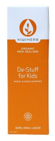 Kiwi Herb Organic New Zealand De- Stuff For Kids Oral Liquid 50 ml - Corner Pharmacy