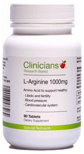Clinicians L-Arginine 1000mg 90 tabs - Corner Pharmacy