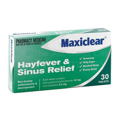 MAXICLEAR Hayfever Sinus 30s