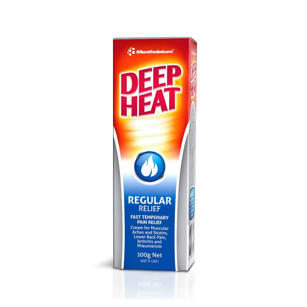 Mentholatum Deep Heat Regular Relief 100 g - Corner Pharmacy