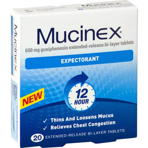 Mucinex Expectorant 20 Extended-Release Bi-Layer Tablets - Corner Pharmacy